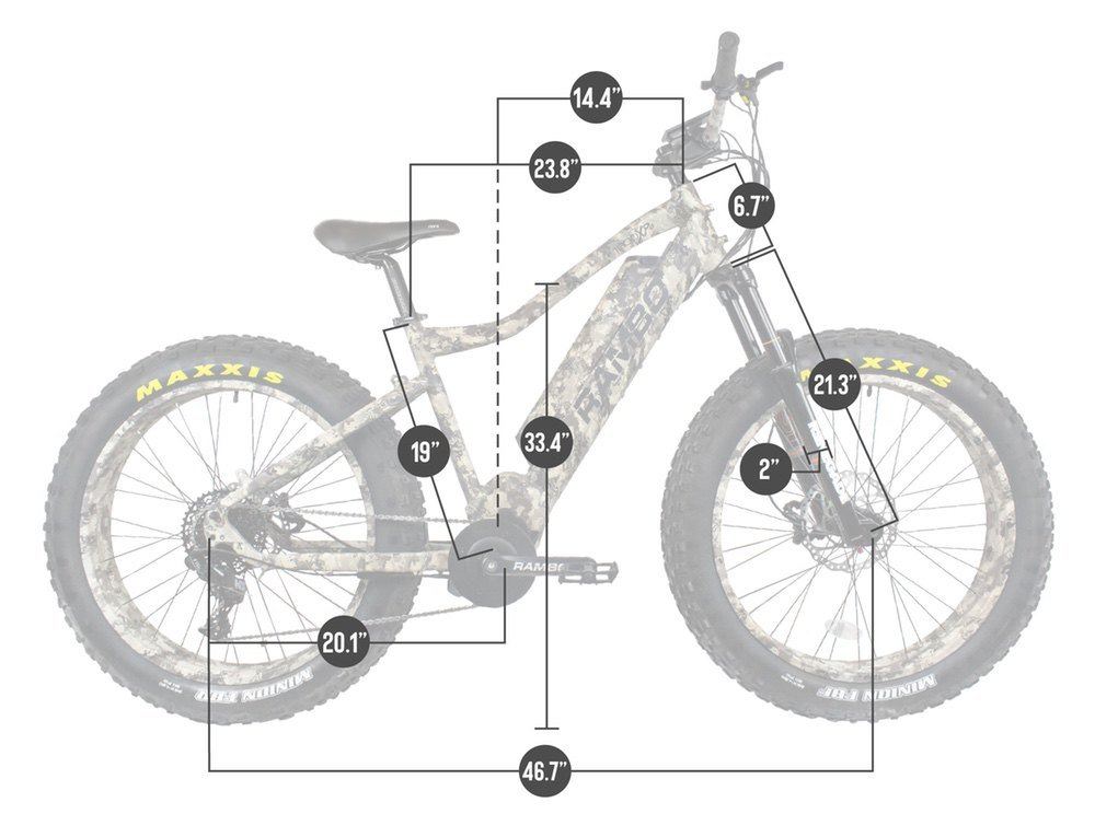 Rambo Rebel 1000w electric bike dimensions